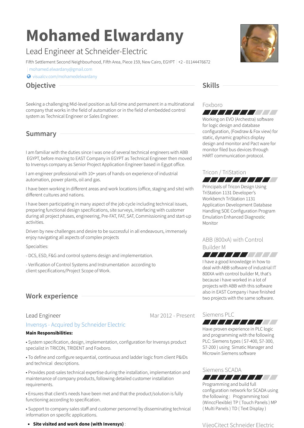 Application Engineer Resume Application Engineer Resume Samples and Templates Visualcv