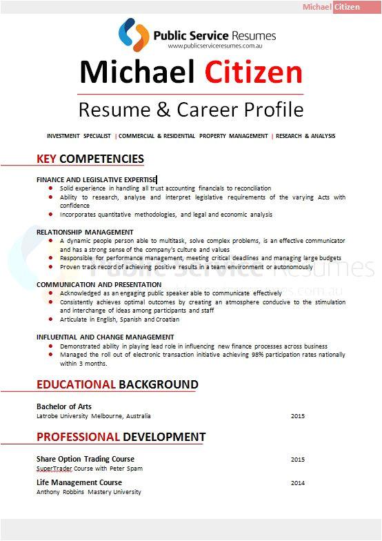 professional red resume design