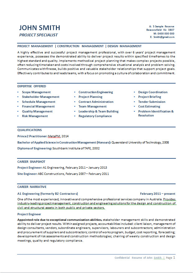 mid career resume services