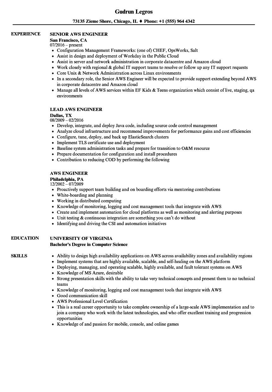 aws redshift developer resume