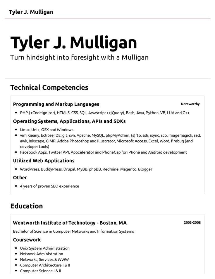 resume computer skills