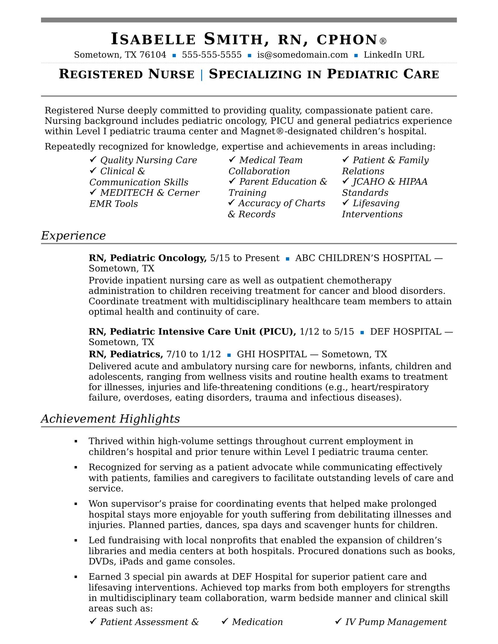 Basic Nursing Skills for Resume Nurse Resume Sample Monster Com