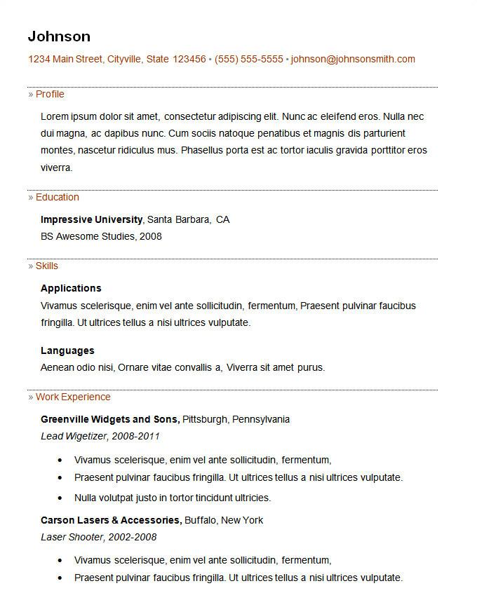 Basic Resume Examples Pdf 70 Basic Resume Templates Pdf Doc Psd Free