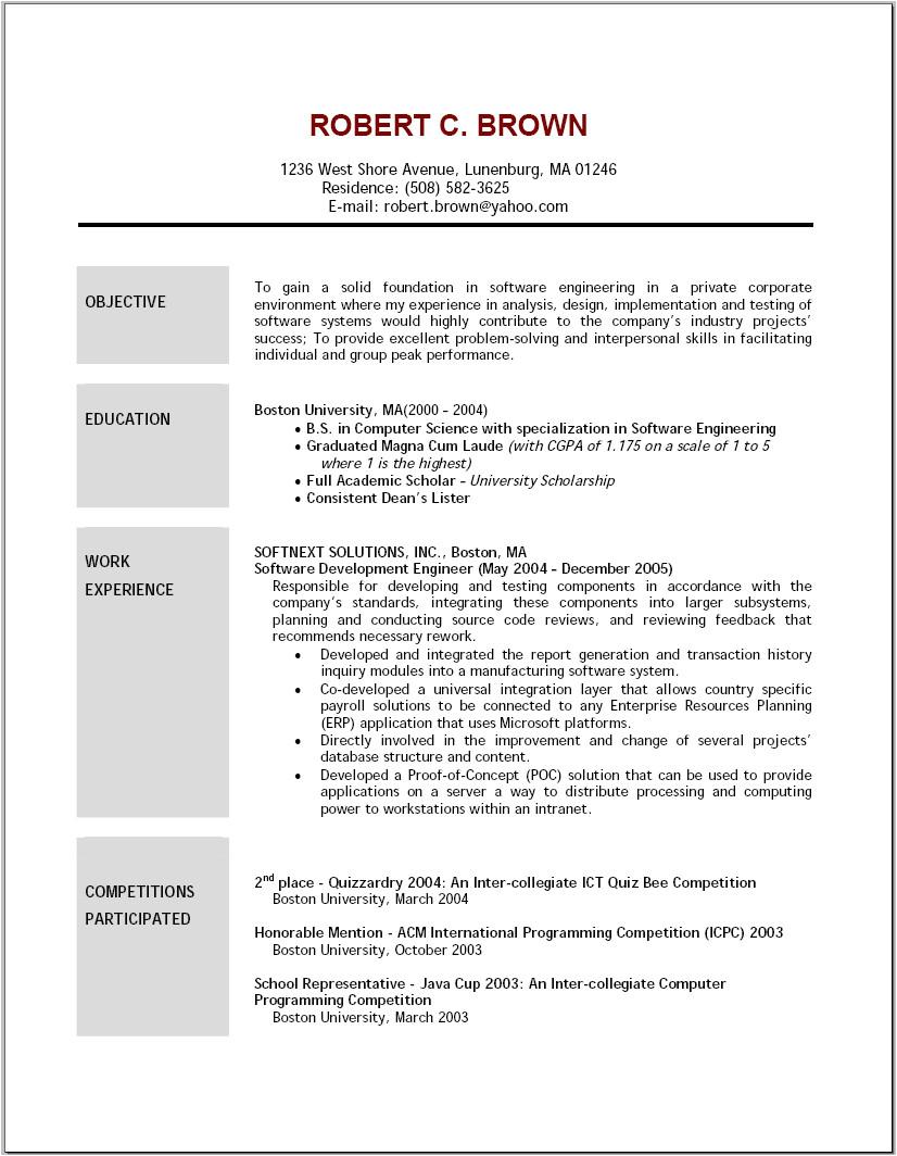 5 job resume objective examples