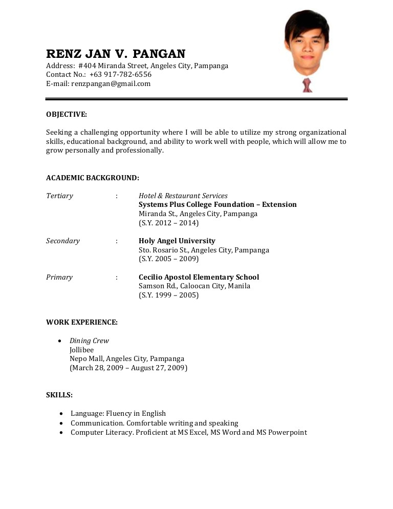 resume sample 32626600
