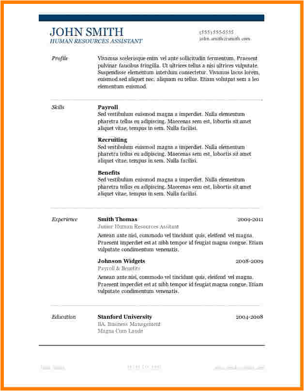6 basic resume templates word