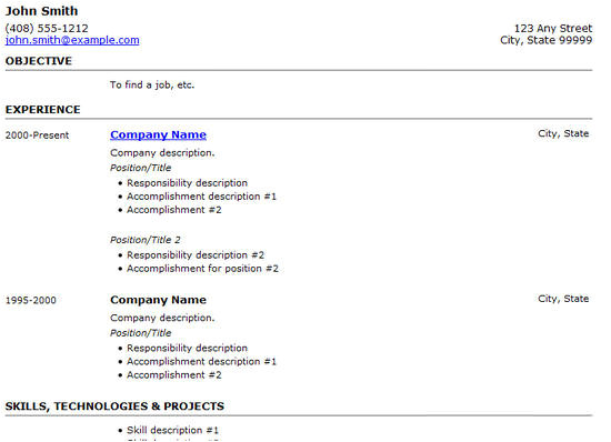 Basic Resume HTML Code 25 Free HTML Resume Templates for Your Successful Online
