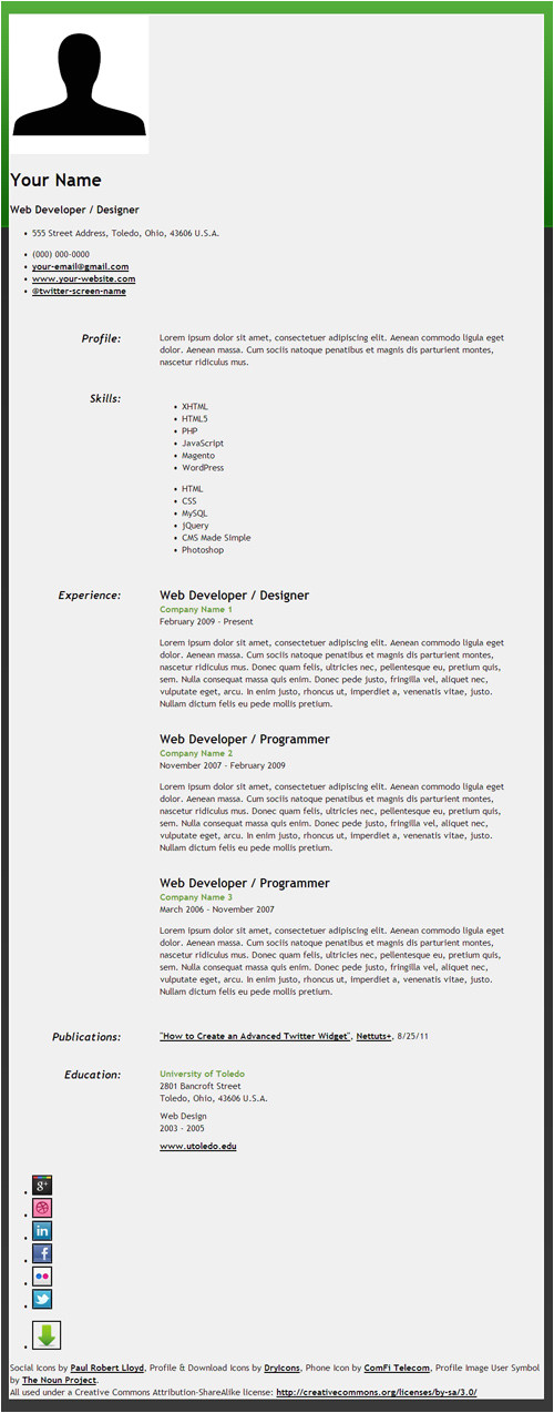how to create an html5 microdata powered resume net 22046