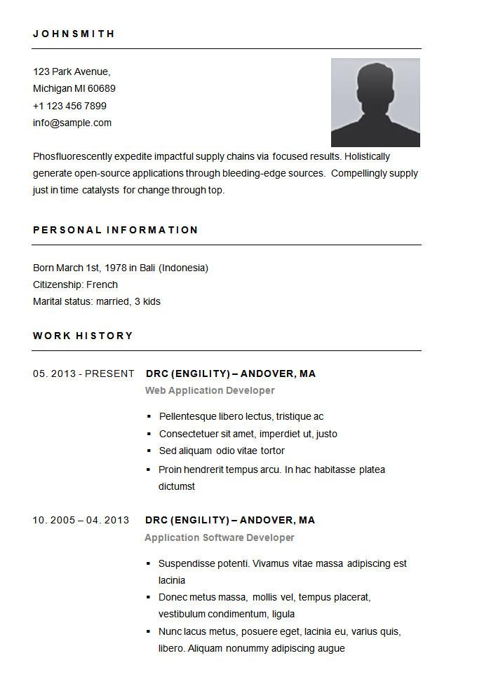 Basic Resume Images 70 Basic Resume Templates Pdf Doc Psd Free