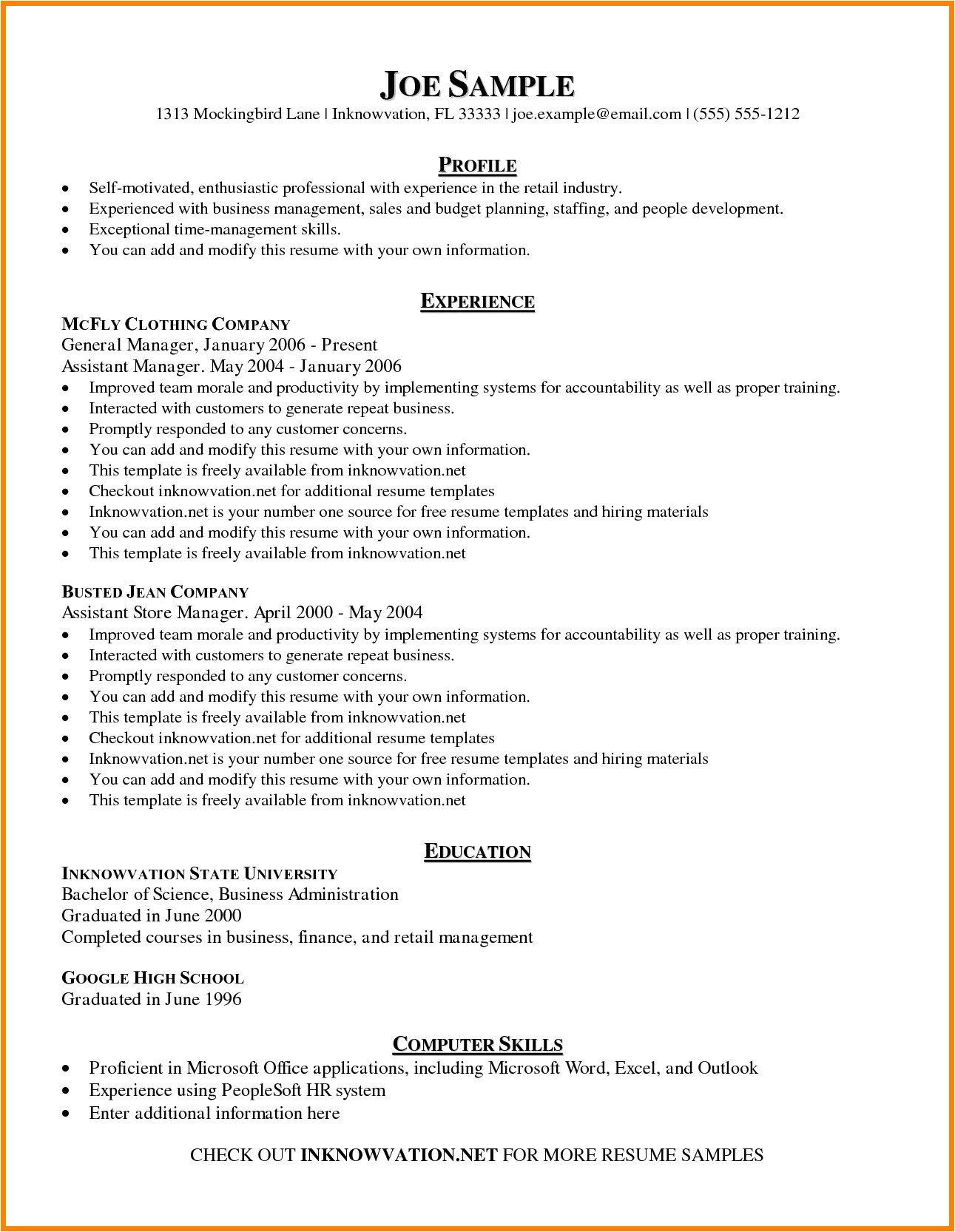 8 how to write a basic resume templates