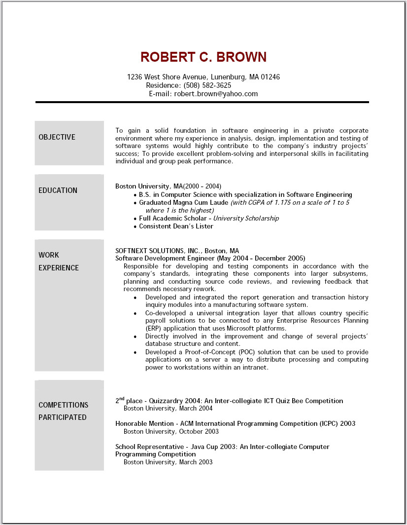 5 job resume objective examples