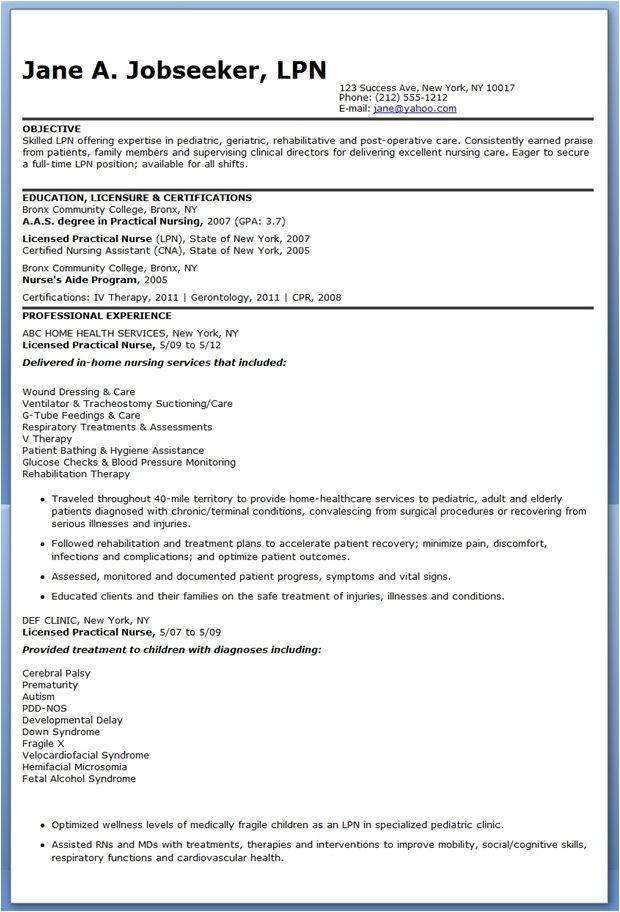 lpn resume