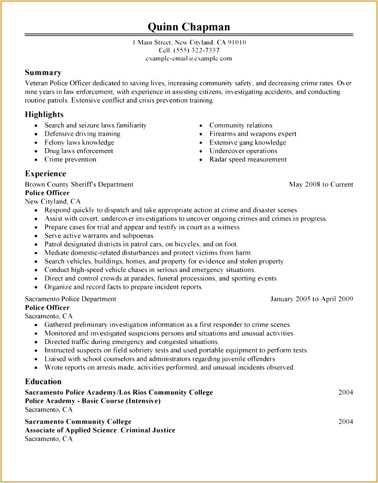 security officer resume objective 54959c