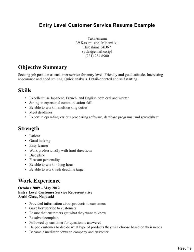 it resume sample no experience