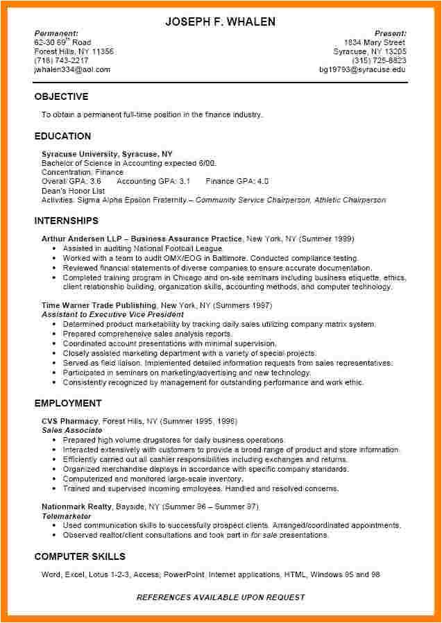 7 college graduate resume examples
