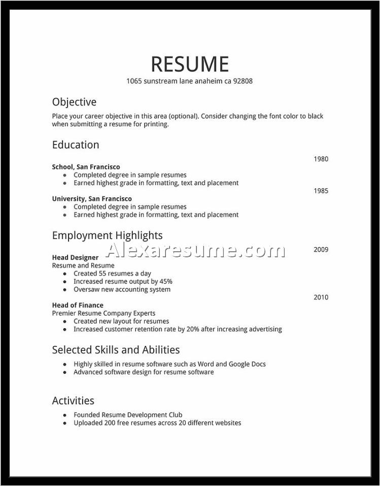 what do i need to make a resume
