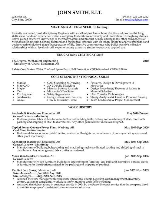 Best Resume for Mechanical Engineer Pin by Resumetemplates101 Com On Best Engineering Resume