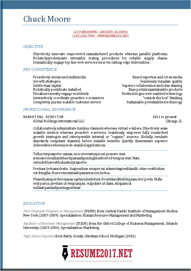 Best Resume format Word 2017 Resume format 2017 16 Free to Download Word Templates