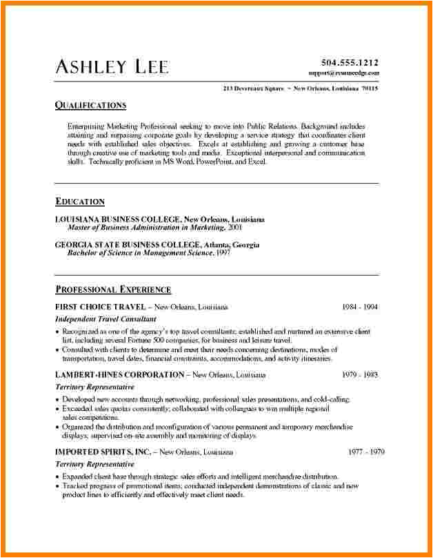 5 resume word doc template