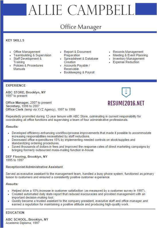 Best Resume Samples Best Sample Resume 2016 Sample Resumes