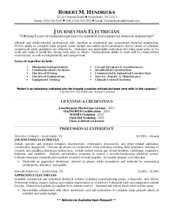 building maintenance resume