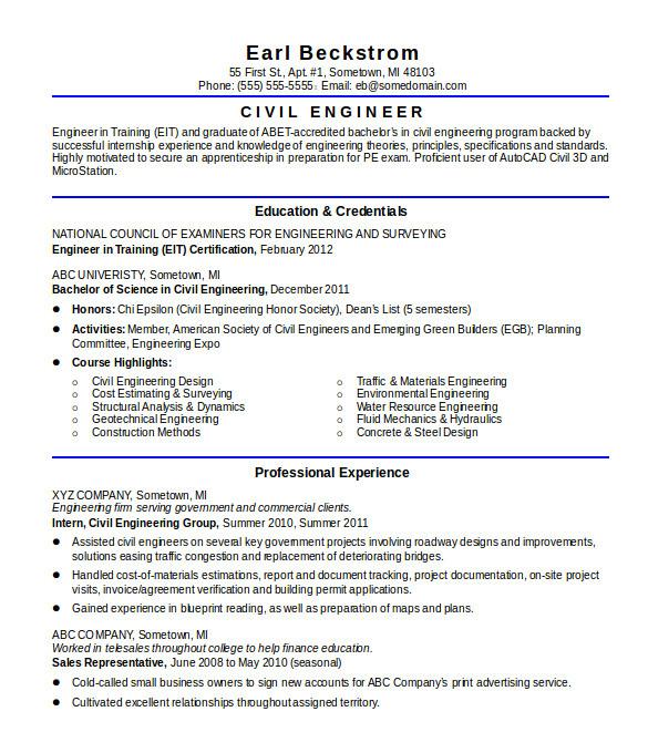 Civil Engineer Resume Doc   williamson-ga.us