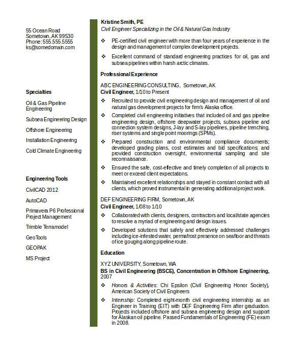 Civil Engineering Resume format Word 20 Civil Engineer Resume Templates Pdf Doc Free