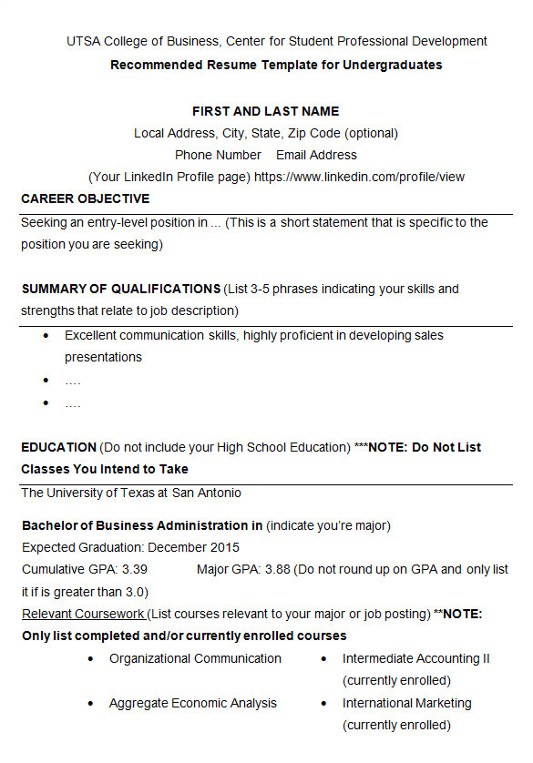 College Student Resume Template 24 Best Student Sample Resume Templates Wisestep
