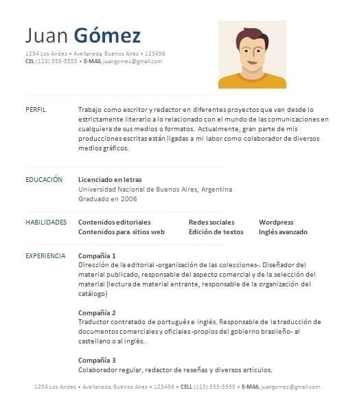 Como Preparar Un Resume Profesional Ejemplo De Curriculum Vitae Ejemplos De Curriculum Vitae