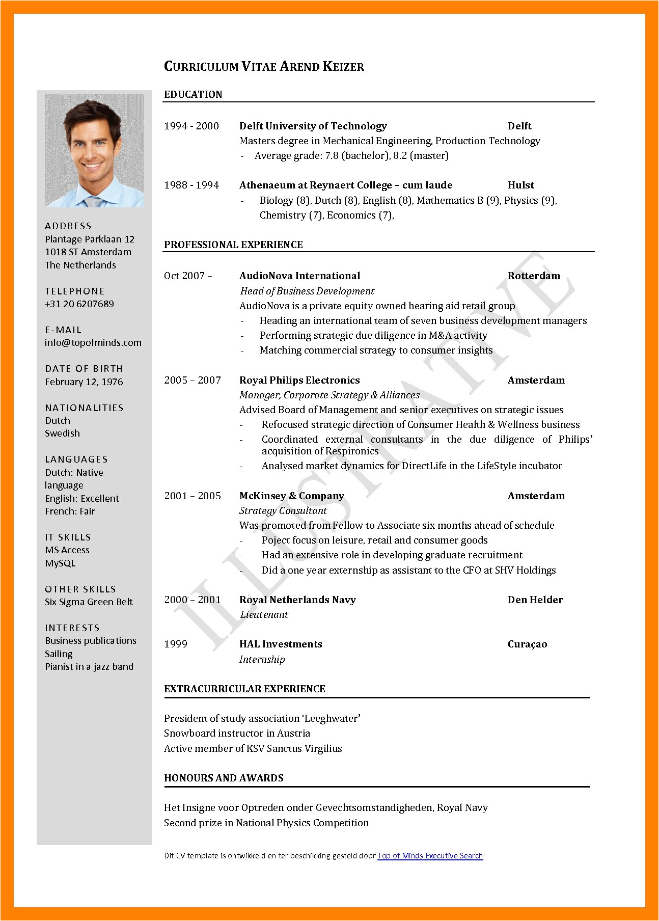 Curriculum Vitae format European Word 5 Curriculum Vitae European format Word theorynpractice