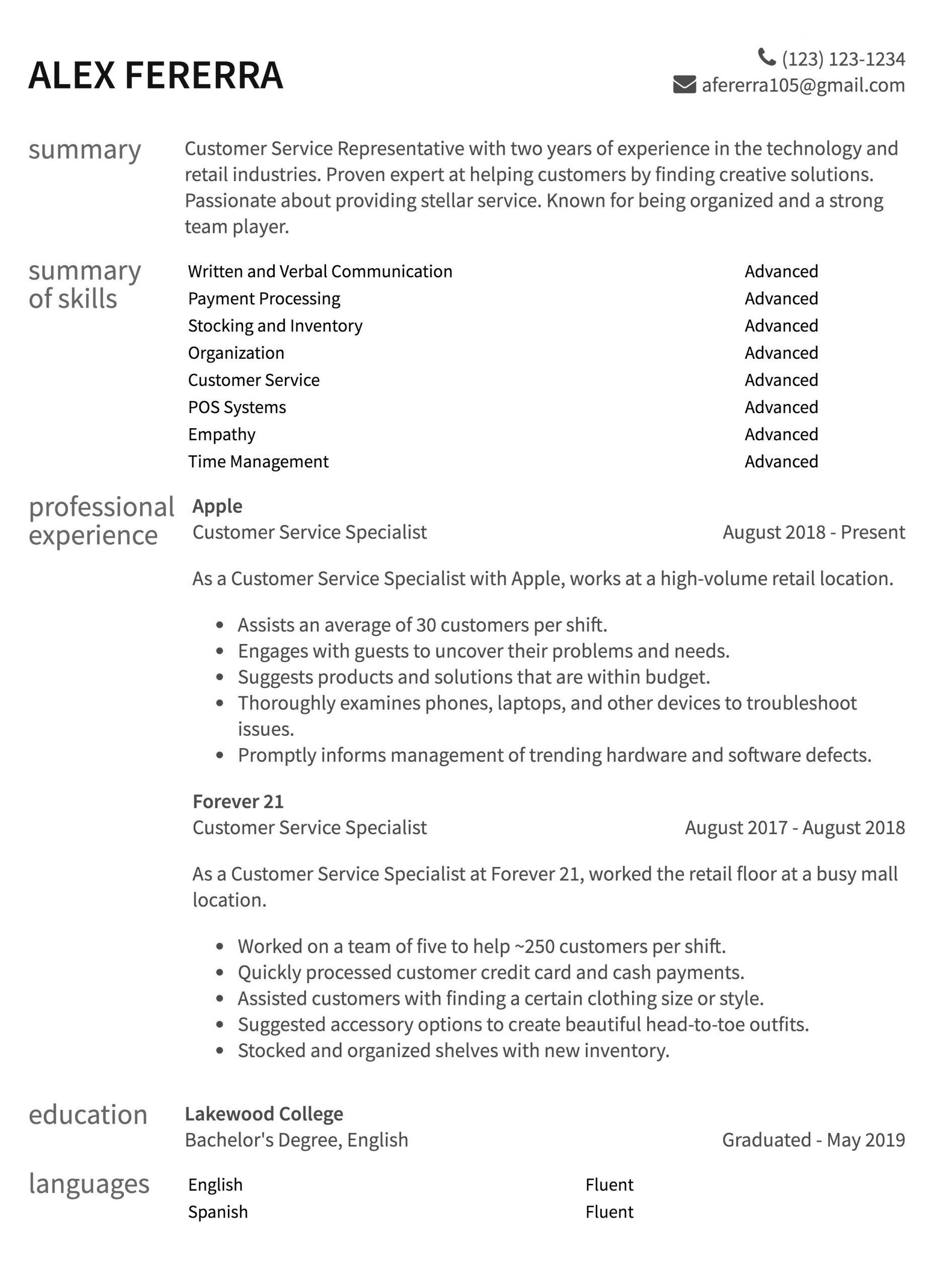 Customer Service Resume Sample Customer Service Resume Samples How to Guide Resume Com