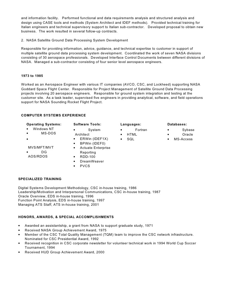 for detailed resume in msword format click here
