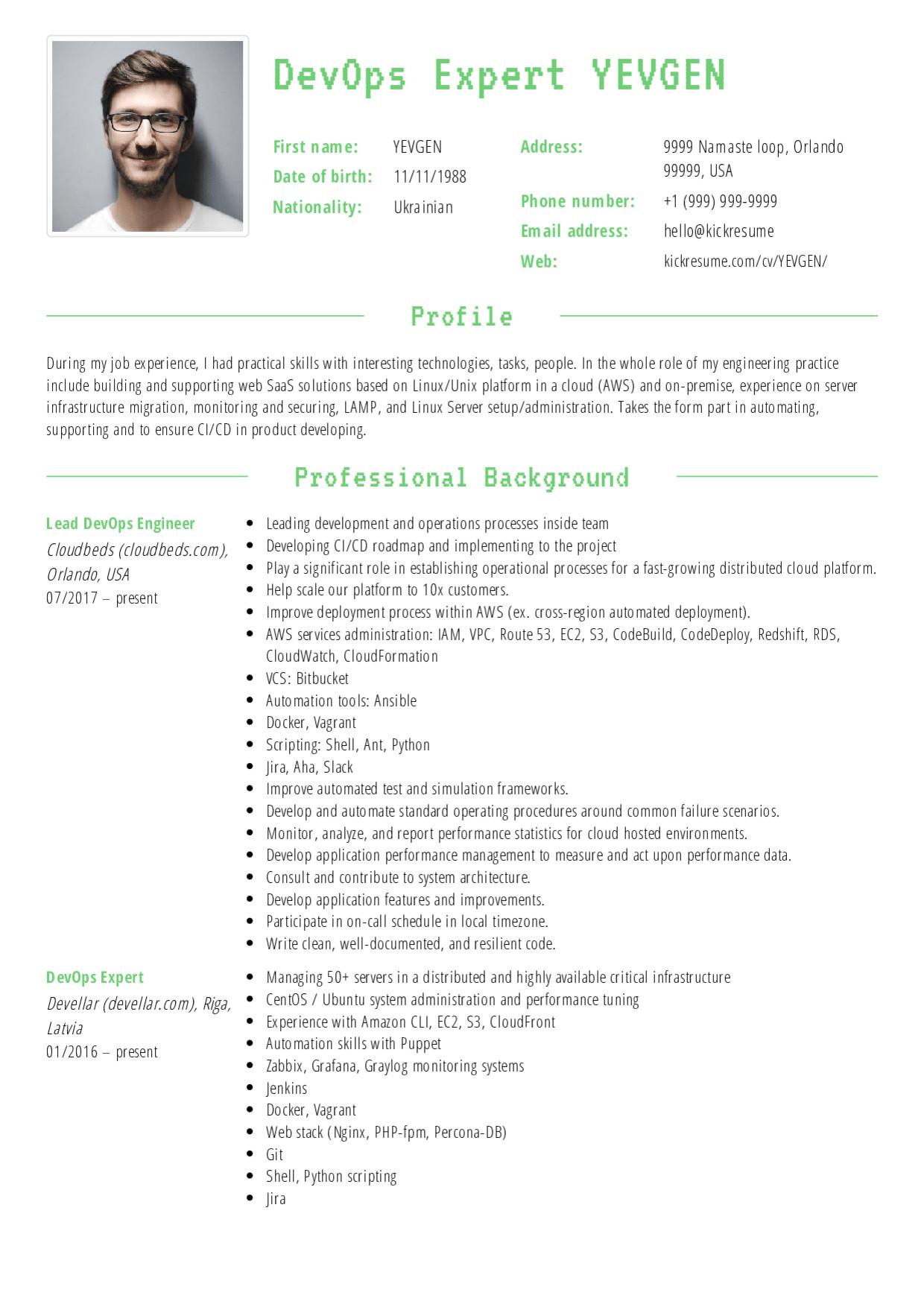 lead devops engineer resume sample 453 resume sample