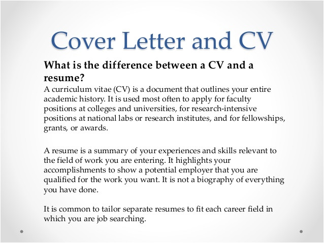 difference between job application letter and resume