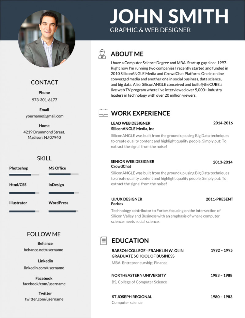 Editable Simple Resume format 50 Most Professional Editable Resume Templates for