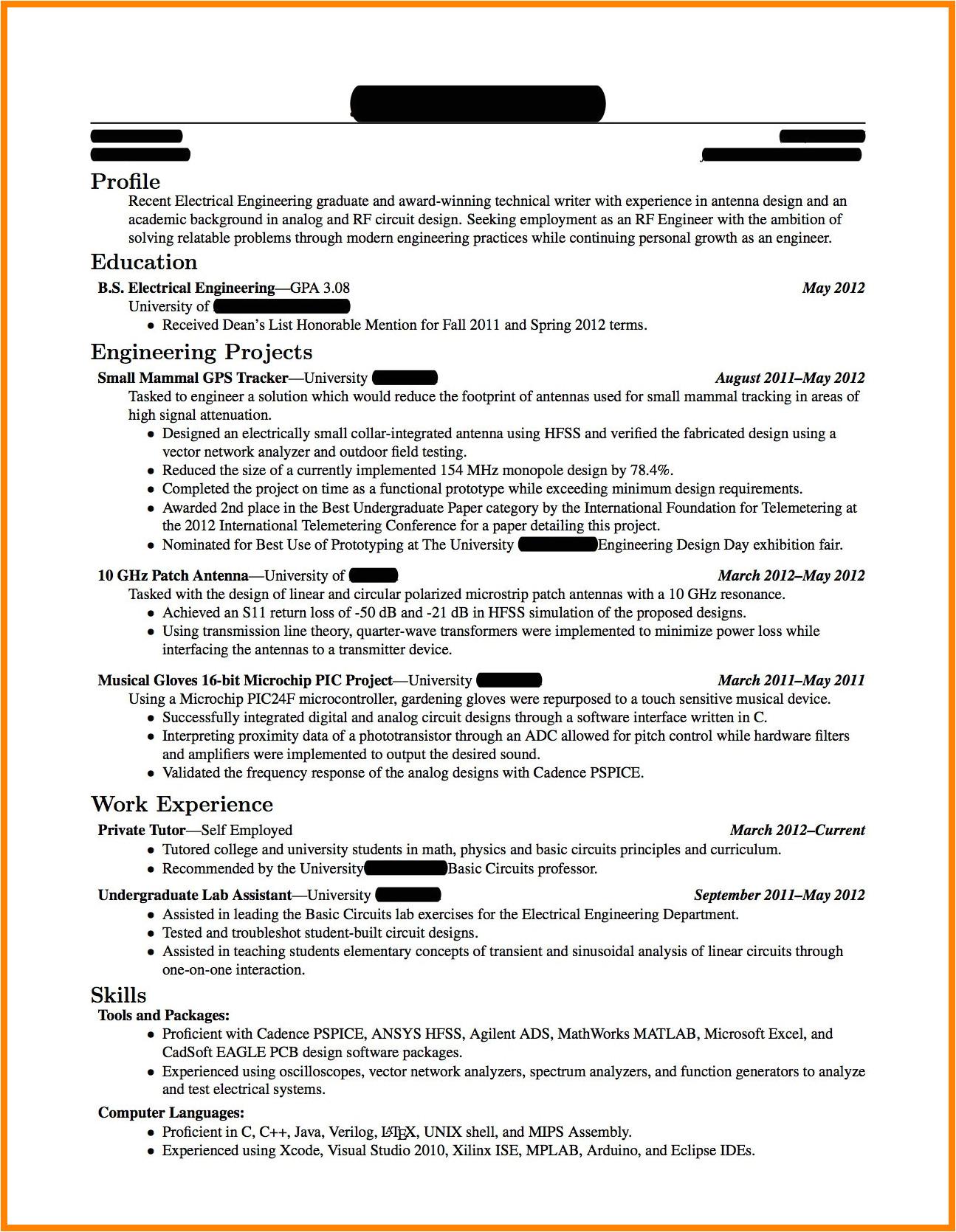 Electrical Engineer Resume New Graduate Sample Resume Electrical Engineer Fresh Graduate 2 Fresh