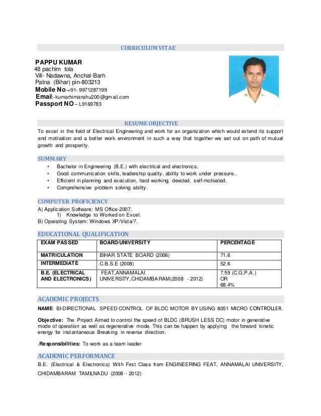 resume electrical electronics engineering 45067212