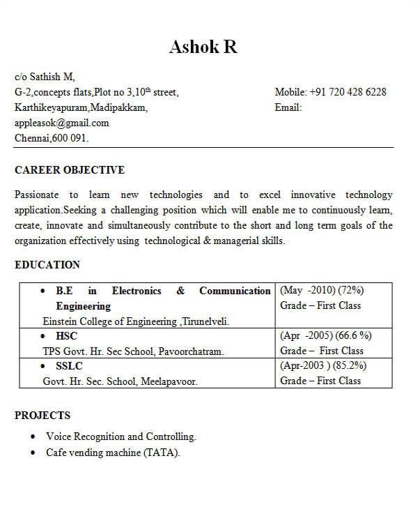 Electronics Engineering Fresher Resume format 25 Best Engineering Resume Templates Pdf Doc Free