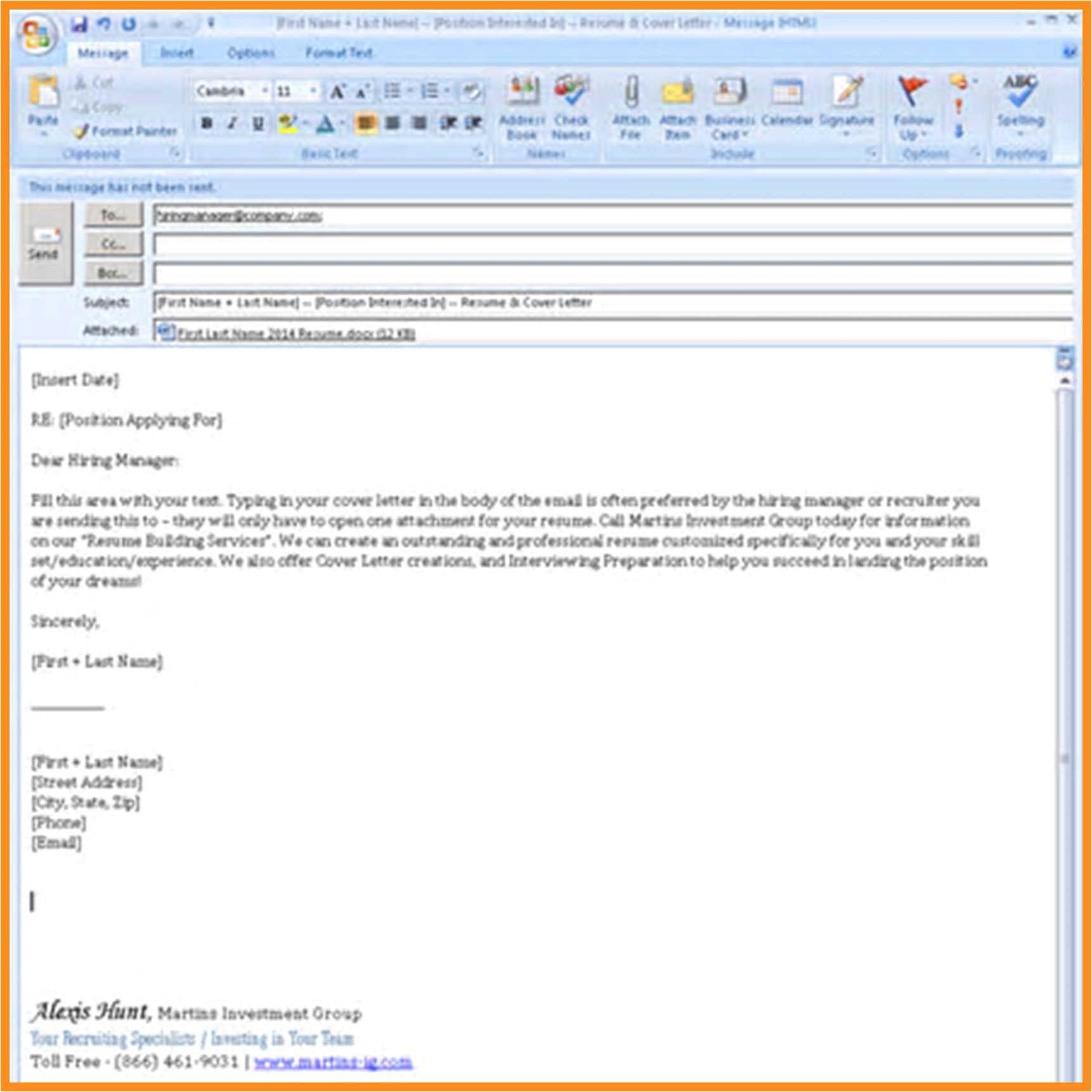 Email format for Sending Resume for Job 11 12 Resume Email Sample Lascazuelasphilly Com
