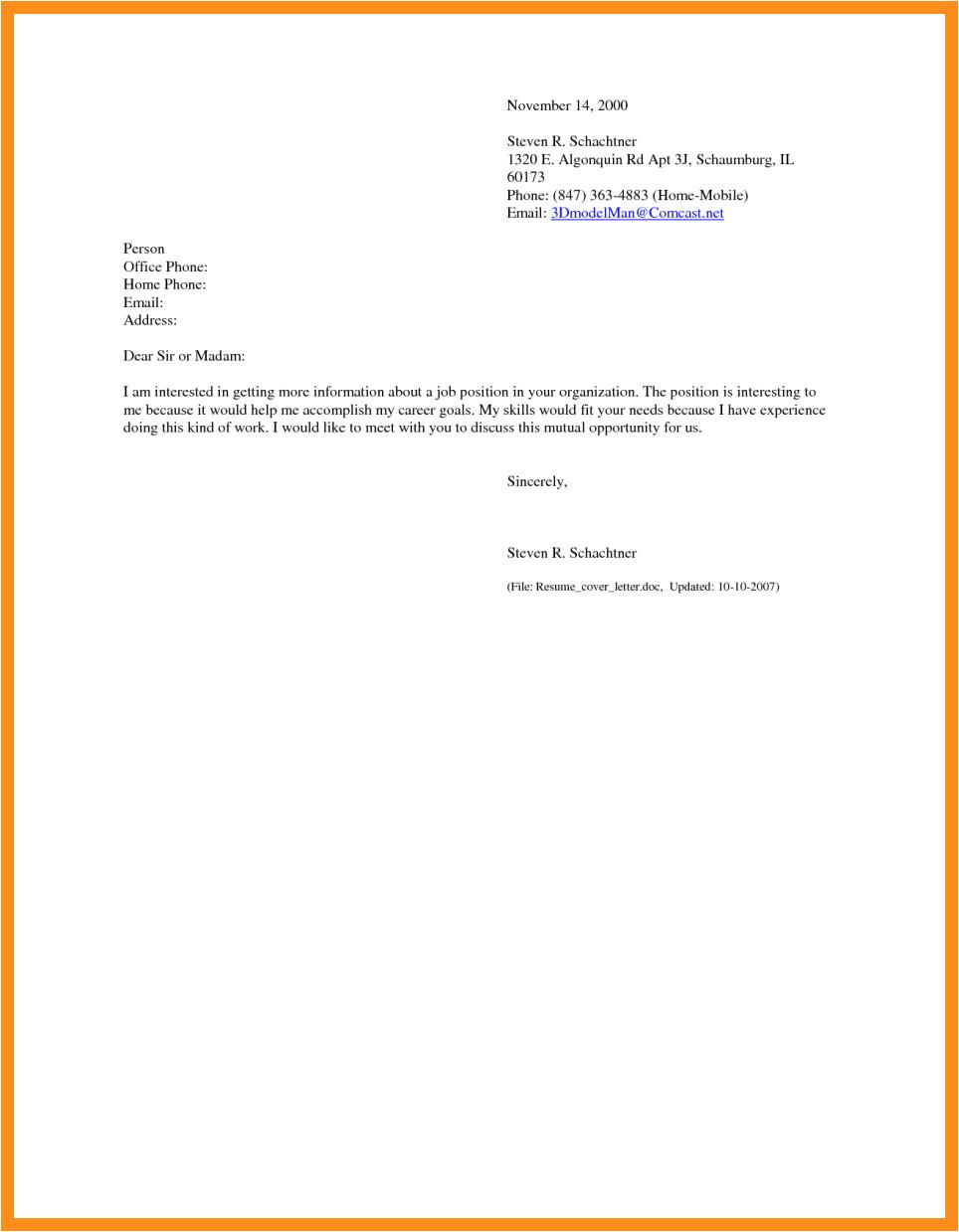 sending resume via email sample