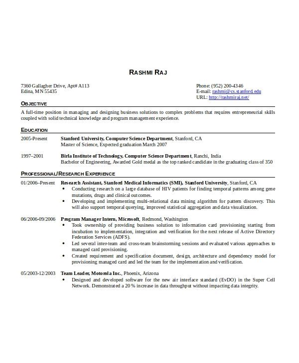 Embedded Engineer Resume 2 Year Experience software Engineer Resume Template 6 Free Word Pdf