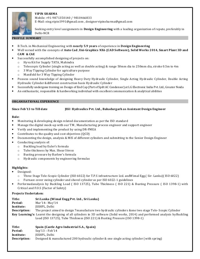 design engineer resume with 59 year professional experience 1