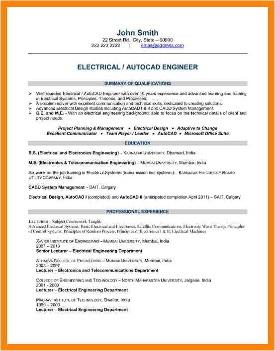 6 electrical engineer resume