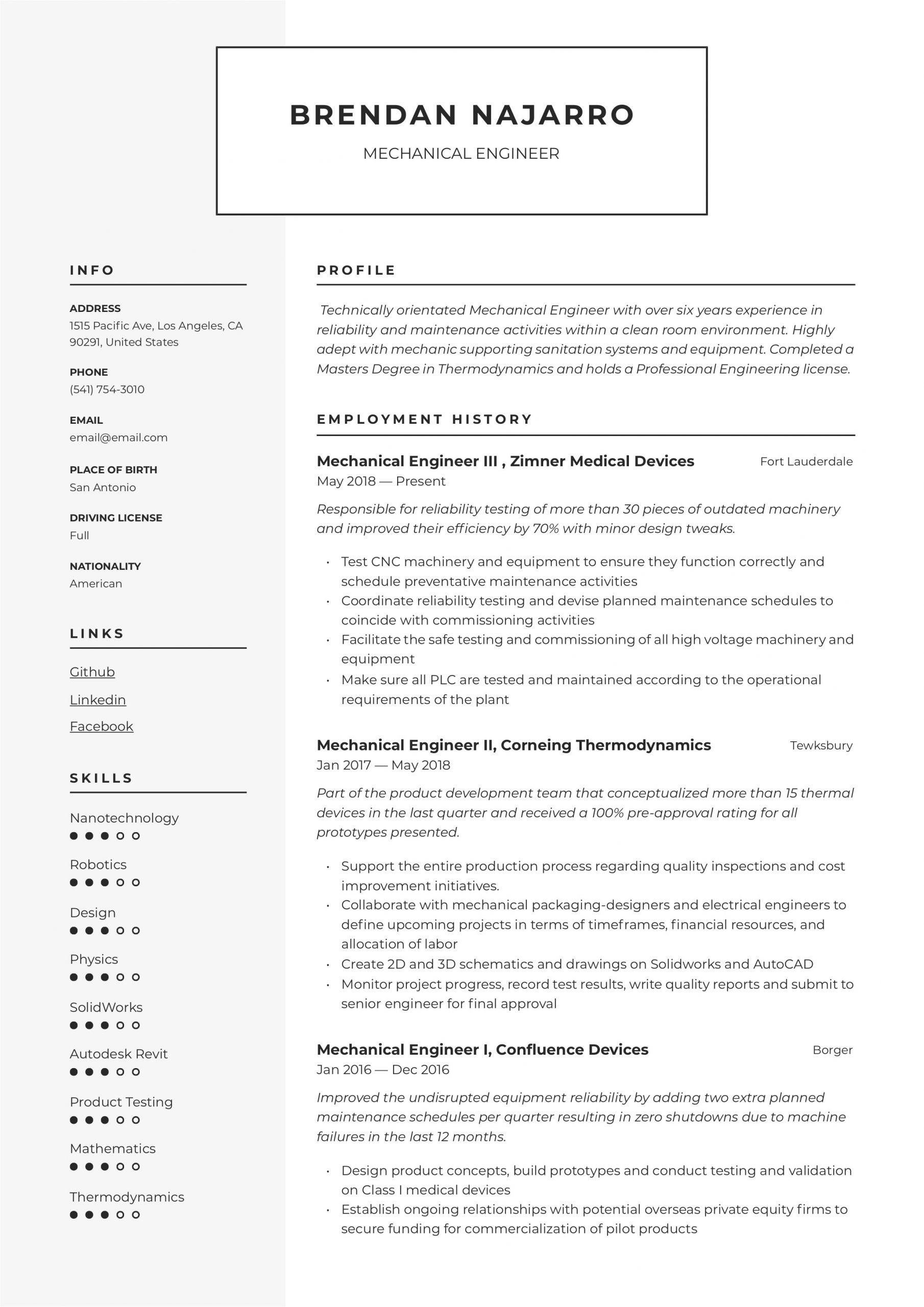 Engineer Resume Guide Mechanical Engineer Resume Writing Guide 12 Templates