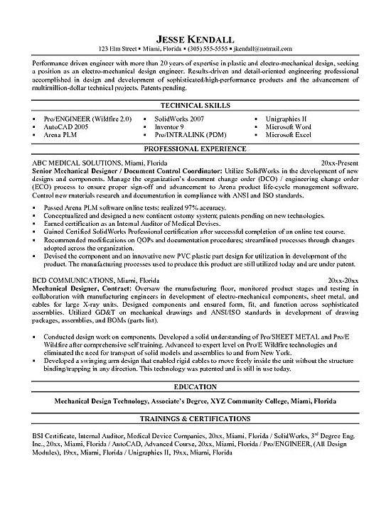 best mechanical engineer resume templates samples