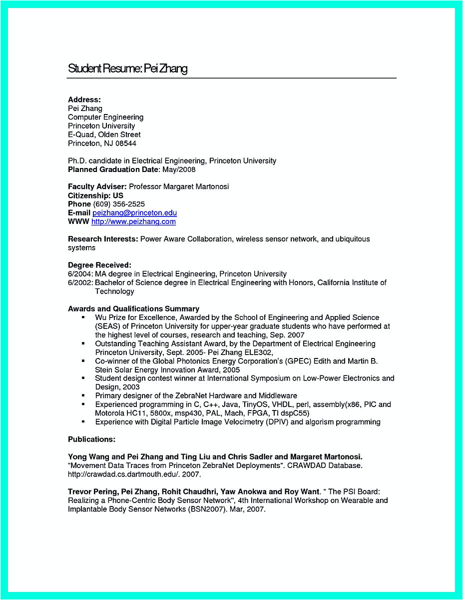 Engineer Resume with No Experience the Perfect Computer Engineering Resume Sample to Get Job soon