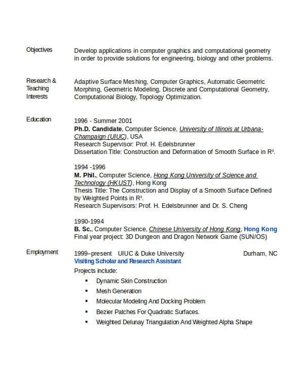 engineering resume template word
