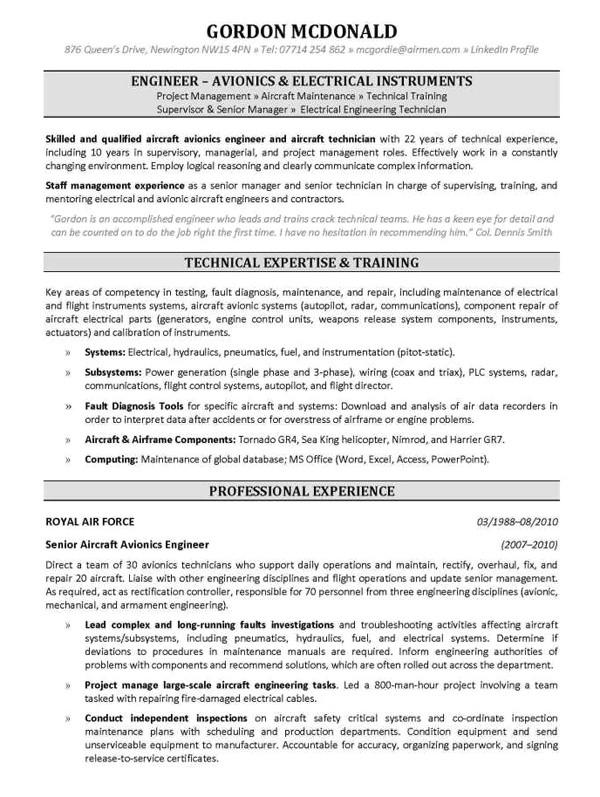 example resume template mechanical engineer resume