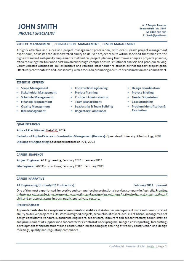 general resume samples