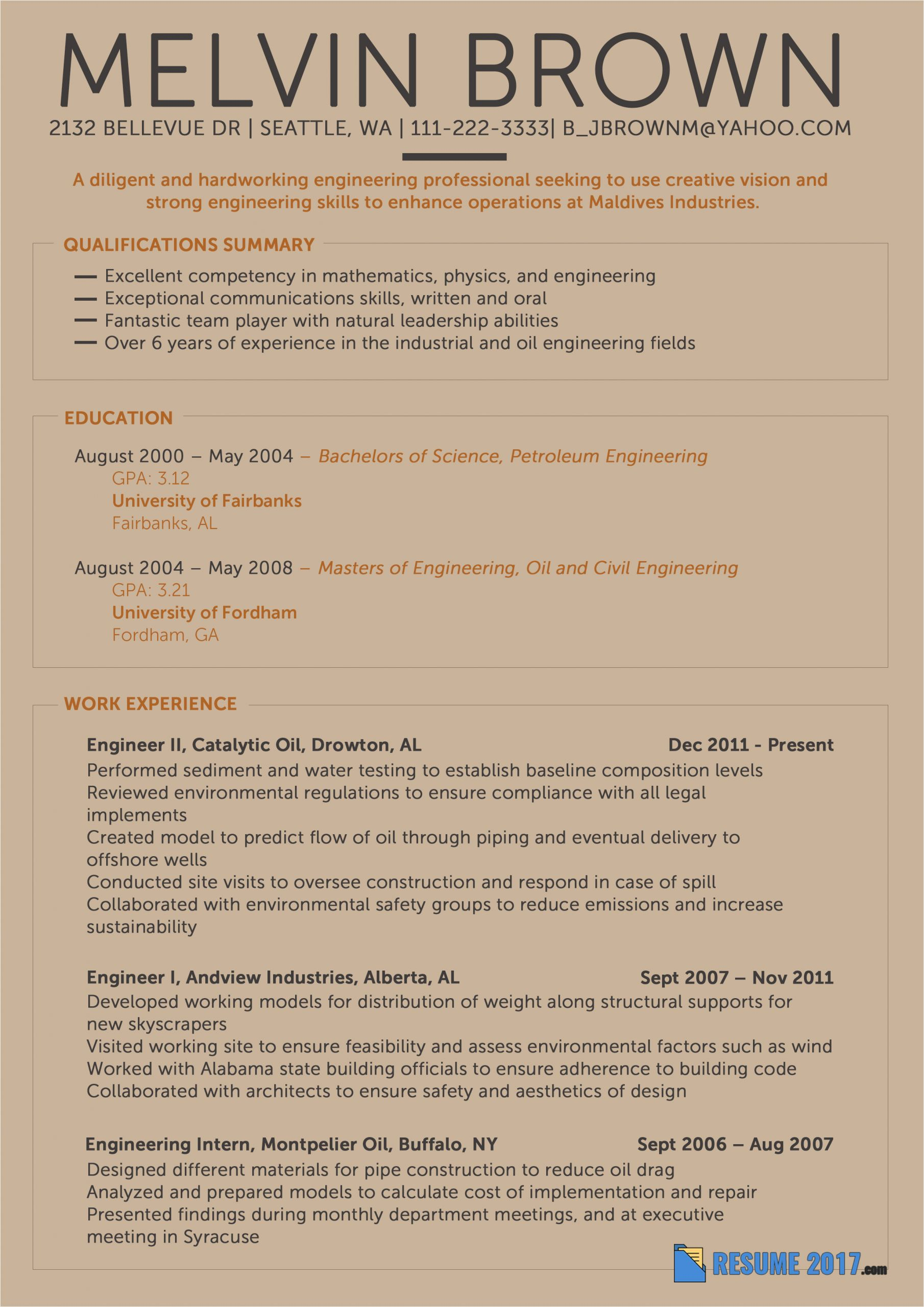 modern resume formats 2018 be in trend